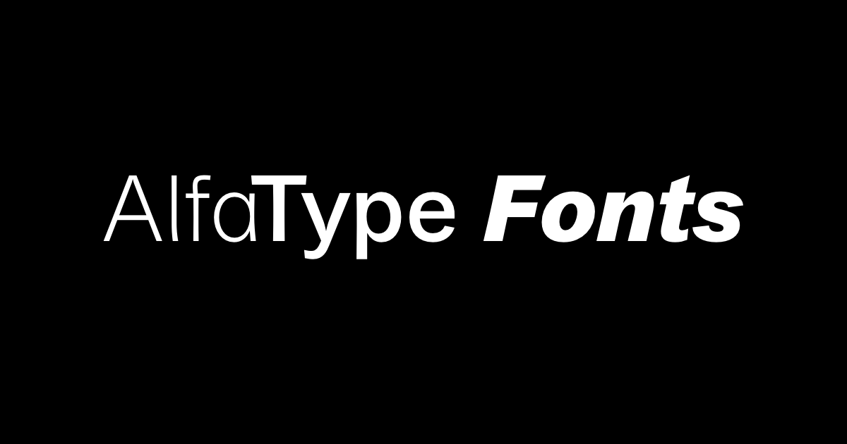 AlfaType Fonts Foundry
